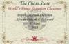 "British Staunton Chess Set Padauk and Boxwood Pieces 4"" King Certificate"