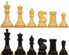 """Conqueror Plastic Chess Set Black & Camel Pieces - 3.75"""" King (Loose Weights)"""