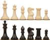"Professional Plastic Chess Set Black & Ivory Pieces - 4.125"" King"