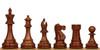 "British Staunton Chess Set Golden Rosewood Pieces 4"" King"