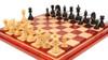 Cyrus Staunton Chess Set Ebony & Boxwood Pieces with Padauk Maple Mission Craft Chess Board