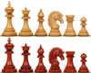 "Cyrus Staunton Chess Set with Padauk & Boxwood Pieces - 4.4"" King"