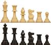 Standard Club Plastic Chess Set Black & Camel Pieces