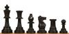 Standard Club Plastic Chess Set Black Pieces