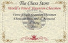 "Fierce Knight Staunton Chess Set Ebonized and Natural Boxwood Pieces 4"" King Certificate"