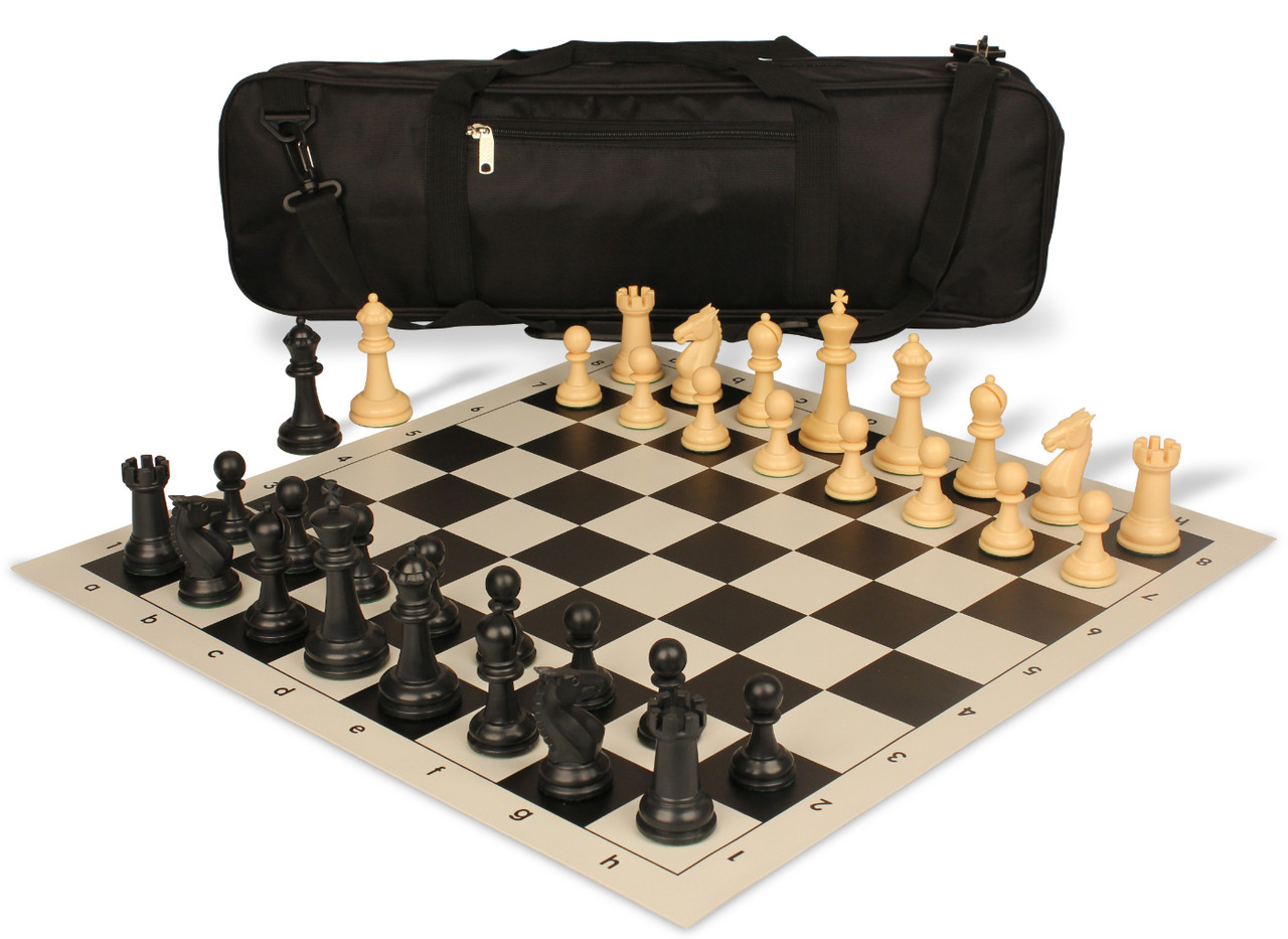 Triple Dark Green Weighted Regulation Colored Plastic Chess Pieces