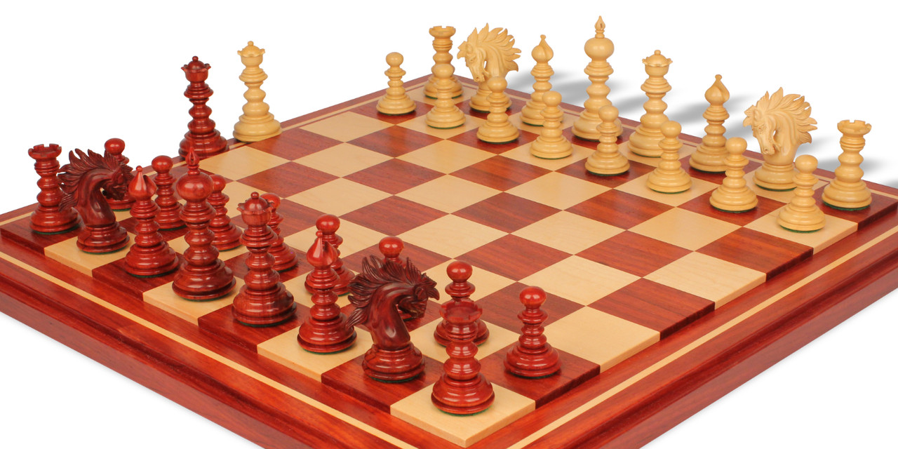 Details about  /Reindeer CHESS Made in Padouk Wood and Boxwood Chess Pieces Set Coins for Wooden