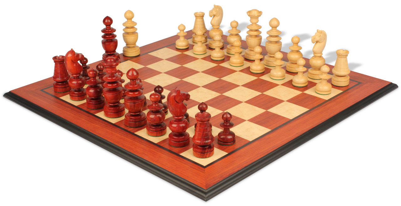 """Antiqued Boxwood The French Regence Luxury Chess Set 4.4/"""" King Pieces Only"""