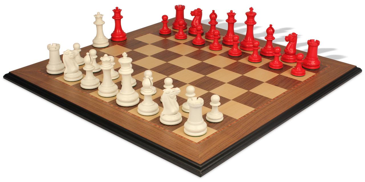 Solid Wood Basic Chess Set Basic Wooden Chess Set 154 SCHOOL