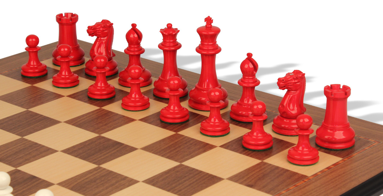 Board Red Bag Solid Plastic Standard Chess Set Combination