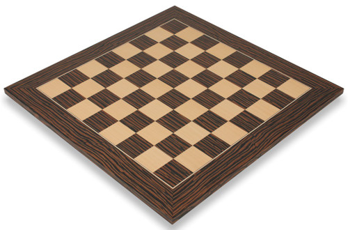 "Tiger Ebony & Maple Deluxe Chess Board - 1.75"" Squares"