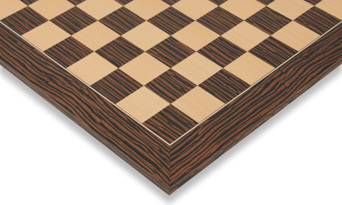 "Tiger Ebony & Maple Deluxe Chess Board - 1.75"" Squares"