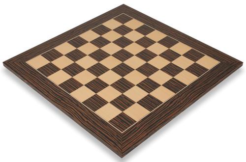"Tiger Ebony & Maple Deluxe Chess Board - 2.125"" Squares"