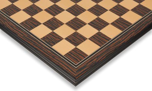 "Tiger Ebony & Maple Molded Edge Chess Board - 2.125"" Squares"