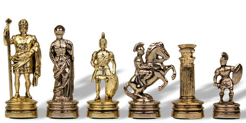 Small Romans Metal Theme Chess Set by Manopoulos