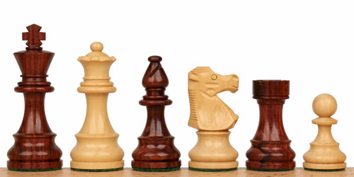 "French Lardy Staunton Chess Set in Rosewood & Boxwood - 3.25"" King"