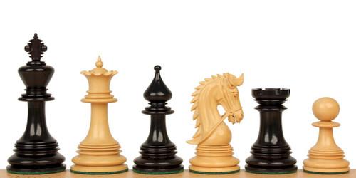 "Hadrian Staunton Chess Set Ebony and Boxwood Pieces 4.4"" King"