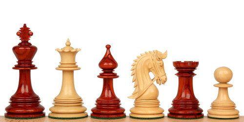 "Hadrian Staunton Chess Set Padauk and Boxwood Pieces 4.4"" King"
