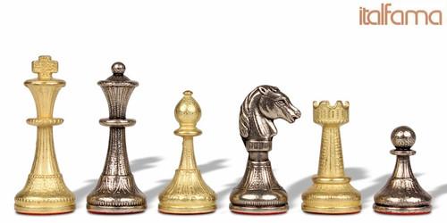 Small Metal Staunton Chess Set by Italfama