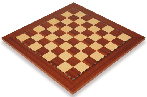 """Mahogany & Maple Deluxe Chess Board - 1.5"""" Squares"""