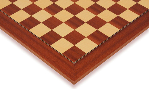 """Mahogany & Maple Deluxe Chess Board - 2.375"""" Squares"""