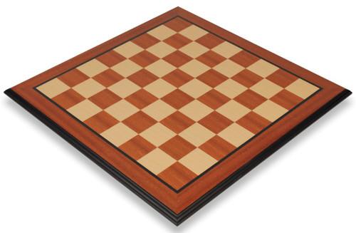 """Mahogany & Maple Molded Edge Chess Board - 2"""" Squares"""