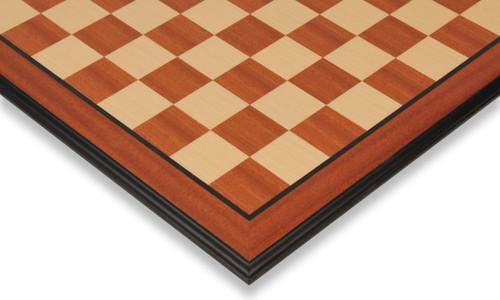 """Mahogany & Maple Molded Edge Chess Board - 2.375"""" Squares"""