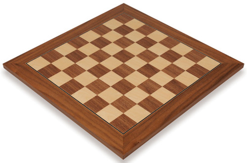 "Walnut & Maple Deluxe Chess Board - 2.375"" Squares"