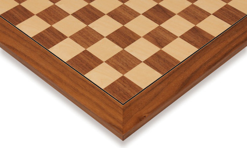 """Walnut & Maple Deluxe Chess Board - 2.375"""" Squares"""