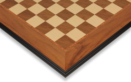 "Walnut & Maple Molded Edge Chess Board - 2.125"" Squares"