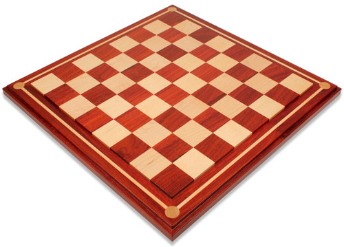 """Mission Craft African Padauk & Maple Solid Wood Chess Board - 2.25"""" Squares"""