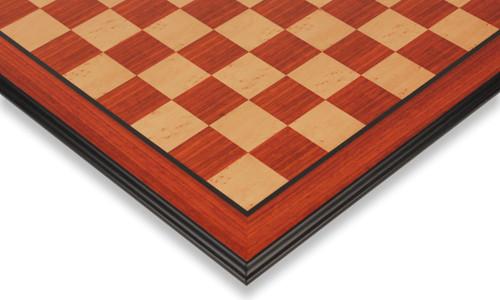 "Padauk & Maple Molded Edge Chess Board - 2"" Squares"