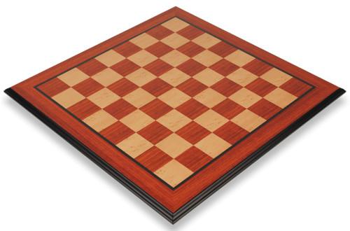 "Padauk & Maple Molded Edge Chess Board - 2.125"" Squares"