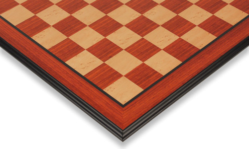 "Padauk & Maple Molded Edge Chess Board - 2.375"" Squares"