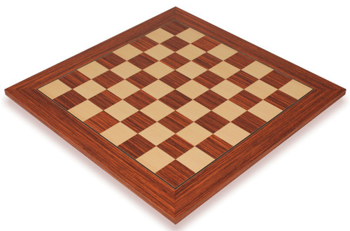 """Rosewood & Maple Deluxe Chess Board - 1.5"""" Squares"""