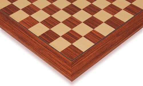 """Rosewood & Maple Deluxe Chess Board - 2"""" Squares"""