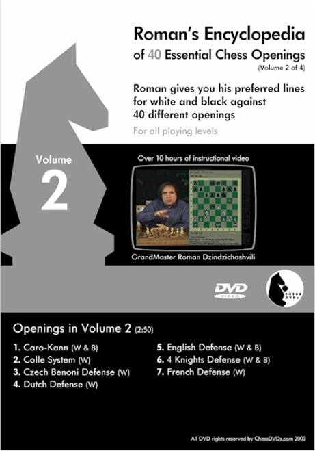 Roman's Encyclopedia of 40 Essential Chess Openings Volume 2