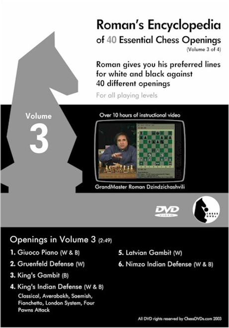 Roman's Encyclopedia of 40 Essential Chess Openings Volume 3