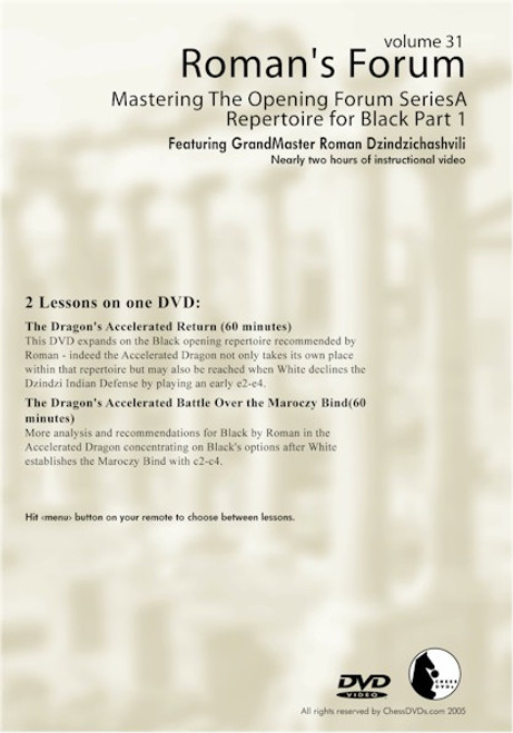 Mastering The Opening Forum Series - A Repertiore For Black Part 1