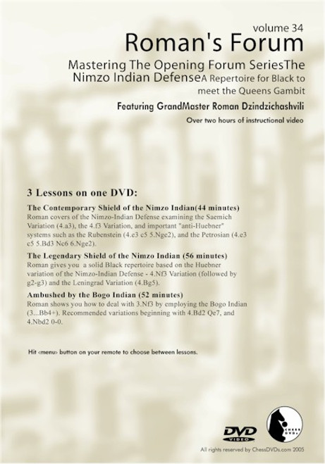 Mastering The Opening Forum Series - The Nimzo Indian Defense