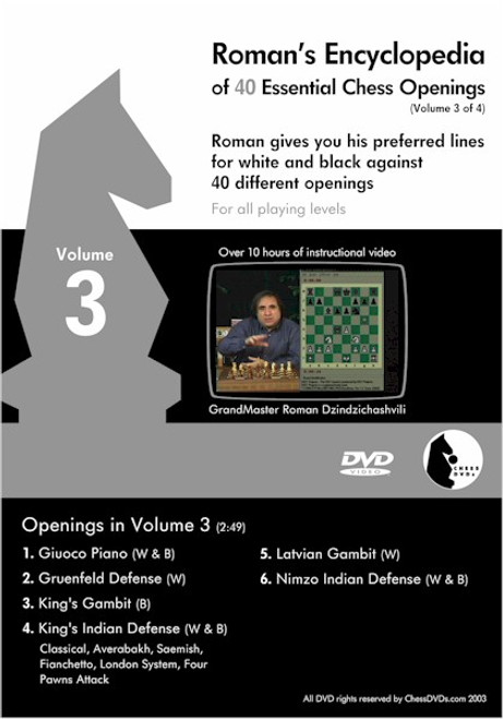 Romans Encyclopedia of 40 Essential Chess Openings - Volume 3