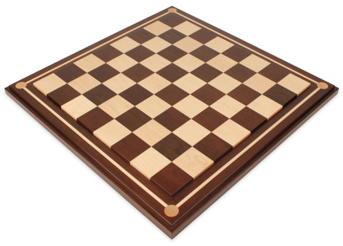 """Mission Craft South American Walnut & Maple Solid Wood Chess Board - 2.25"""" Squares"""
