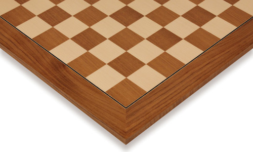 """Teak & Maple Deluxe Chess Board - 1.5"""" Squares"""