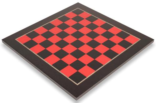 """Tulip Red & Black High Gloss Deluxe Chess Board - 1.5"""" Squares"""