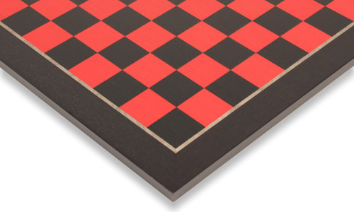 "Tulip Red & Black High Gloss Deluxe Chess Board - 1.5"" Squares"