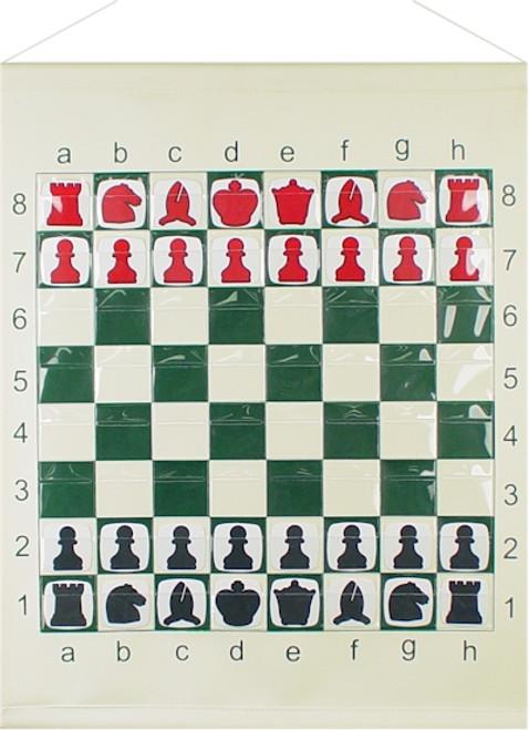 "Vinyl Pouch Chess Demo Board - 36"""