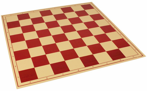 "The Chess Store Premium Vinyl Rollup Chess Board Red - 2.375"" Squares"