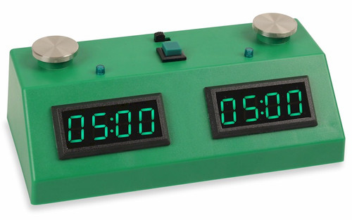 ZMF-II Chess Clock - Dark Green with Green LED