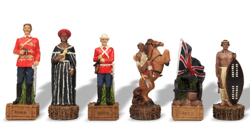 British versus Zulu Theme Chess Set