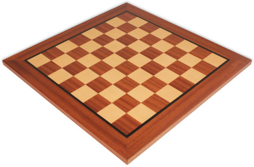 "Mahogany & Maple Classic Chess Board with 2.25"" Squares"